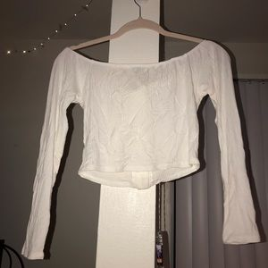 Charlotte Russe Tops - off white off the shoulder top